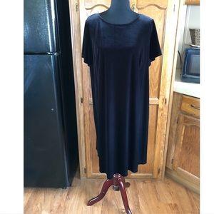 Dressbarn Black Velvet Dress Size 14